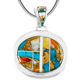 Sterling Silver Pendant Spiny Turquoise P3082-LG-C89