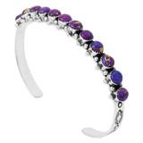 Purple Turquoise Bracelet Sterling Silver B5426-C77