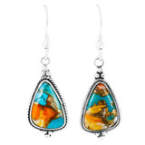 Spiny Turquoise Earrings Sterling Silver E1065-SM-C89