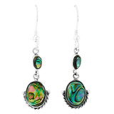 Sterling Silver Earrings Abalone Shell E1218-C10