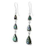 Sterling Silver Earrings Abalone Shell E1320-C10