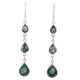 Abalone Shell Earrings Sterling Silver E1241-C10