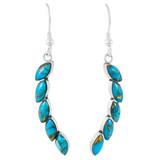 Matrix Turquoise Earrings Sterling Silver E1324-C84