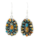 Spiny Turquoise Earrings Sterling Silver E1034-C89