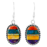 Sterling Silver Drop Earrings Turquoise E1323-C00