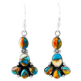 Spiny Turquoise Earrings Sterling Silver E1327-C89