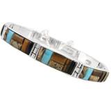 Tiger Eye Link Bracelet Sterling Silver B5518-C34