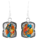 Spiny Turquoise Earrings Sterling Silver E1235-C89