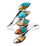 Spiny Turquoise Ring Sterling Silver R2420-C89