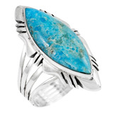 Turquoise Ring Sterling Silver R2023-C75