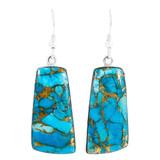 Matrix Turquoise Earrings Sterling Silver E1332-C84