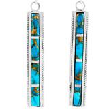 Matrix Turquoise Earrings Sterling Silver E1336-C84
