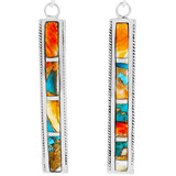 Spiny Turquoise Earrings Sterling Silver E1336-C89