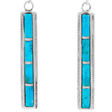 Turquoise Earrings Sterling Silver E1336-C05