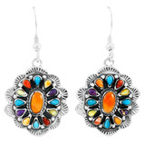 Sterling Silver Earrings Multi Gemstones E1340-C71