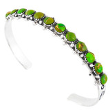 Green Turquoise Bracelet Sterling Silver B5426-C76