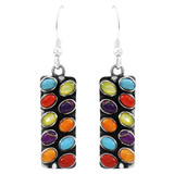 Multi Gemstone Earrings Sterling Silver E6004-C71