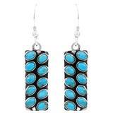 Turquoise Earrings Sterling Silver E6004-C75