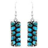 Matrix Turquoise Earrings Sterling Silver E6004-C84