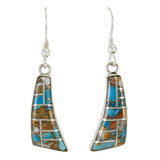 Spiny Turquoise Earrings Sterling Silver E1154-C89