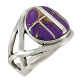 Purple Turquoise Ring Sterling Silver R2431-C07