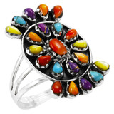 Multi Gemstone Ring Sterling Silver R2455-C71