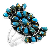 Matrix Turquoise Ring Sterling Silver R2455-C84