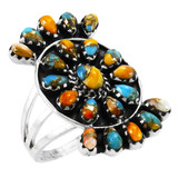 Spiny Turquoise Ring Sterling Silver R2455-C89