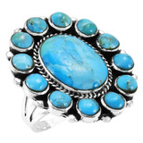 Turquoise Ring Sterling Silver R2457-C75