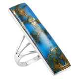 Matrix Turquoise Ring Sterling Silver R2456-C84