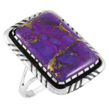 Purple Turquoise Ring Sterling Silver R2463-C77