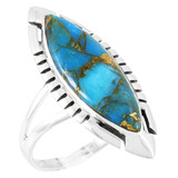 Matrix Turquoise Ring Sterling Silver R2461-C84
