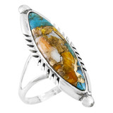 Spiny Turquoise Ring Sterling Silver R2460-C89