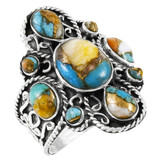 Spiny Turquoise Ring Sterling Silver R2416-C89