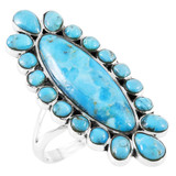 Turquoise Ring Sterling Silver R2462-C75