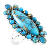 Matrix Turquoise Ring Sterling Silver R2462-C84