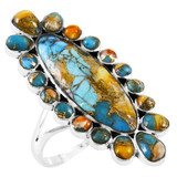 Spiny Turquoise Ring Sterling Silver R2462-C89