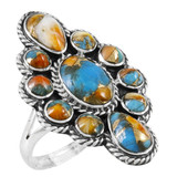 Spiny Turquoise Ring Sterling Silver R2464-C89