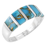 Matrix Turquoise Ring Sterling Silver R2465-C84