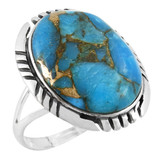 Matrix Turquoise Ring Sterling Silver R2466-C84
