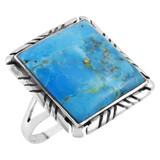 Turquoise Jewelry Ring Sterling Silver R2469-C75