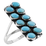 Turquoise Jewelry Ring Sterling Silver R2471-C75
