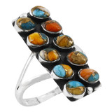 Spiny Turquoise Ring Sterling Silver R2471-C89