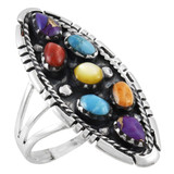 Multi Gemstone Ring Sterling Silver R2468-C71