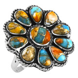 Spiny Turquoise Ring Sterling Silver R2472-C89