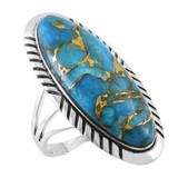 Matrix Turquoise Ring Sterling Silver R2459-LG-C84