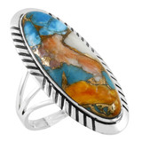 Spiny Turquoise Ring Sterling Silver R2459-LG-C89