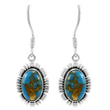Matrix Turquoise Earrings Sterling Silver E1341-SM-C84