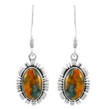 Spiny Turquoise Earrings Sterling Silver E1341-SM-C89