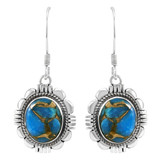 Matrix Turquoise Earrings Sterling Silver E1341-LG-C84